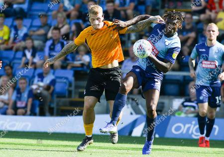 Stephen Humphrys, Anthony Stewart. Wycombe Wanderers v Southend United.  EFL 1