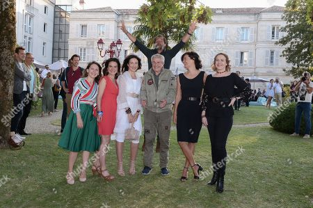 Stock Photo of Elsa Zylberstein, Claude Lelouch, Ary Abittan, Stephane De Groodt, Marianne Denicourt, Agnes Soral