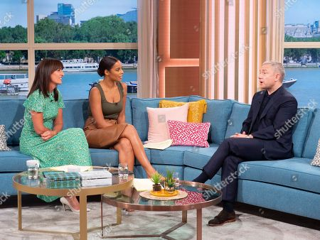 Davina McCall, Rochelle Humes and Martin Freeman