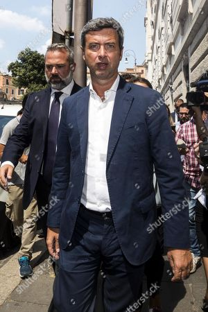 The member of the centre-left Democratic Party (PD) Andrea Orlando arrives at Montecitorio palace to meet with the 5 Stars movement (M5S) to start talks on possibly forming a coalition government, Rome, Italy, 23 August 2019. President Sergio Mattarella has given the parties until 28 August to try to put together a new government to last until the end of the legislative term in 2023.