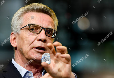 Christian Democratic Union (CDU) party's former German Interior Minister Thomas de Maiziere attends a panel discussion in the Volkswagen Transparent Factory in Dresden, Germany, 23 August 2019.