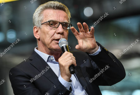 Stock Picture of Christian Democratic Union (CDU) party's former German Interior Minister Thomas de Maiziere attends a panel discussion in the Volkswagen Transparent Factory in Dresden, Germany, 23 August 2019.