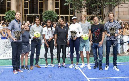 Stefanos Tsitsipas, Dylan Dreyer, Rafael Nadal, Cori Gauff, Serena Williams, Venus Williams, Alexander Zverev, Mischa Zverev and Daniil Medvedev