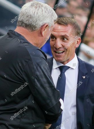 Manager of Newcastle United, Steve Bruce and Manager of Leicester City, Brendan Rogers - Newcastle United v Leicester City, Carabao Cup Second Round, St James' Park, Newcastle upon Tyne, UK - 28th August 2019 Editorial Use Only - DataCo restrictions apply