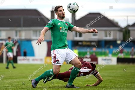 Galway United vs Cork City. Cork City's Gearoid Morrissey and Donal Higgins of Galway United