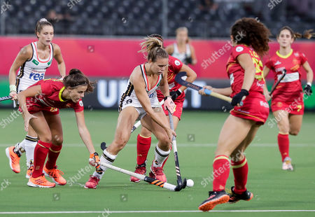 Editorial photo of EuroHockey in Antwerp 2019 women's semi-final Spain vs Germany, Belgium - 23 Aug 2019