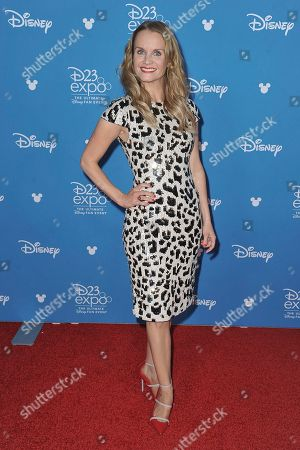 Kate Reinders attends the Disney+ press line at the 2019 D23 Expo, in Anaheim, Calif
