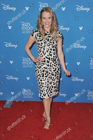 Stock Picture of Kate Reinders attends the Disney+ press line at the 2019 D23 Expo, in Anaheim, Calif