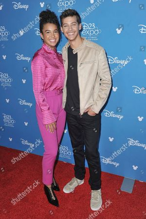 Sofia Wylie, Matt Cornett. Sofia Wylie,left, and Matt Cornett attend the Disney+ press line at the 2019 D23 Expo, in Anaheim, Calif