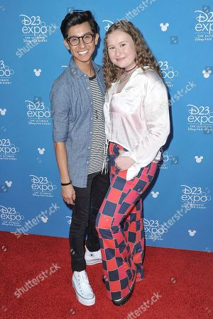 Frankie A. Rodriguez, Julia Lester. Frankie A. Rodriguez, left, and Julia Lester attend the Disney+ press line at the 2019 D23 Expo, in Anaheim, Calif