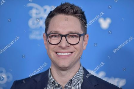 Tim Federle attends the Disney+ press line at the 2019 D23 Expo, in Los Angeles