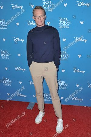 Paul Bettany attends the Disney+ press line at the 2019 D23 Expo, in Los Angeles