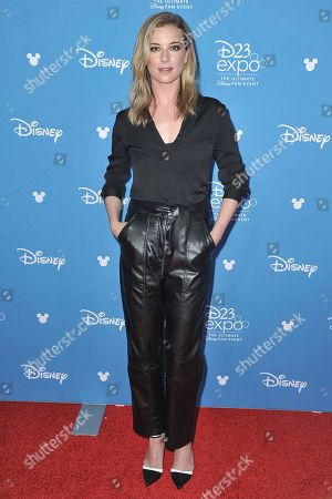 Stock Image of Emily VanCamp attends the Disney+ press line at the 2019 D23 Expo, in Los Angeles