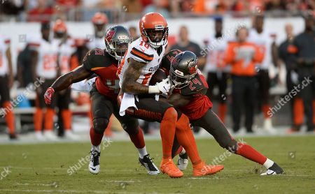 Editorial photo of Browns Buccaneers football, Tampa, USA - 23 Aug 2019