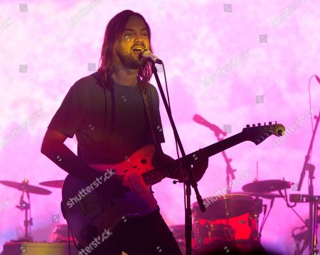 Kevin Parker of the band Tame Impala performs in concert at TD Pavilion at the Mann, in Philadelphia