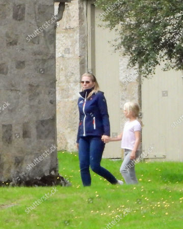 Autumn Phillips and daughter Isla on the Balmoral estate