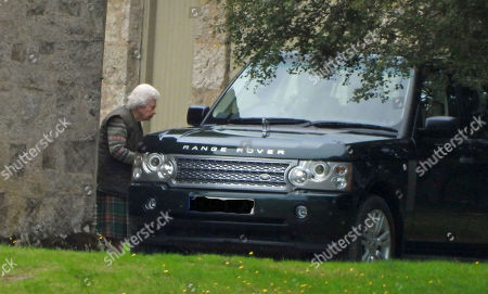 Stock Photo of The Queen on the Balmoral estate