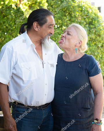Josiane Balasko and her Husband George Aguilar