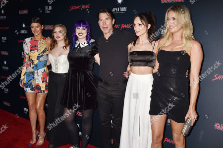 Stock Image of Hannah Stocking, Hayley Griffith, Chelsea Stardust, Jerry O'Connell, Ruby Modine, Rebecca Romijn