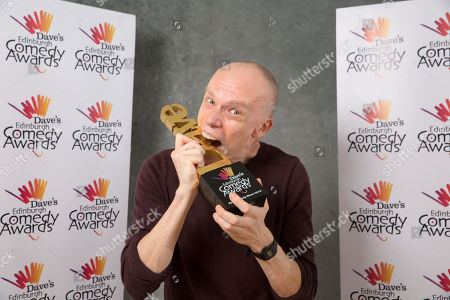 Stock Picture of Jordan Brookes wins Best Comedy Show.
