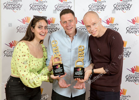 Catherine Cohen (Winner of Best Newcomer 2019), Luke Hales Channel Director at Dave and Jordan Brookes (winner of Best Comedy Show 2019).