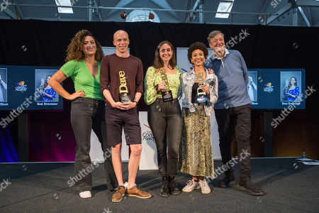 Rose Matafeo (2018 winner), Jordan Brookes (winner of Best Comedy Show 2019), Catherine Cohen (Winner of Best Newcomer 2019), Jessica Brough (Winner of Panel Prize - Fringe of Colour) and Stephen Fry.