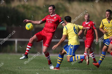 Matt Johnson of Hornchurch during Hornchurch vs Kingstonian, BetVictor League Premier Division Football at Hornchurch Stadium on 24th August 2019