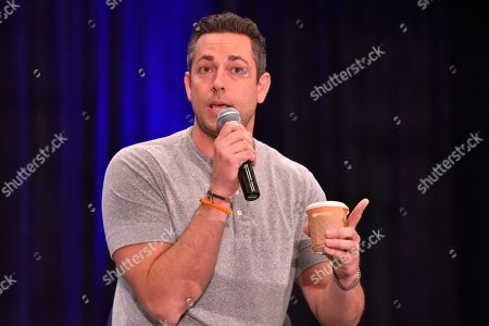 Zachary Levi seen on Day 1 at Wizard World at Donald E Stephens Convention Center, in Chicago