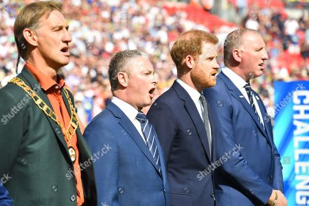 Tony Adams, Simon Johnson, HRH Prince Harry, Duke of Sussex and Ralph Rimmer.