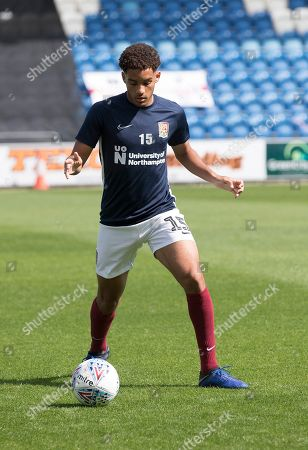 Jay Williams of Northampton Town during Colchester United vs Northampton Town, Sky Bet EFL League 2 Football at the JobServe Community Stadium on 24th August 2019