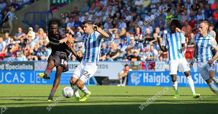 Ovie Ejaria of Reading FC scores the opening goal to put Reading 1-0 up