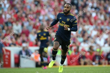 Arsenal forward Alexandre Lacazette (9) during the Premier League match between Liverpool and Arsenal at Anfield, Liverpool