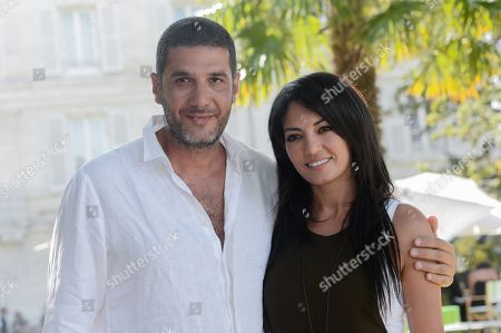 Stock Picture of Nabil Ayouch and Loubna Abidar