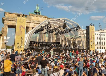 Editorial photo of Berlin Philharmonic performs under the Brandenburg Gate in Berlin, Germany - 24 Aug 2019