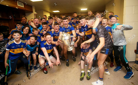 Stock Photo of Cork vs Tipperary. Tipperary's Craig Morgan and teammates celebrate after the game in the changing room