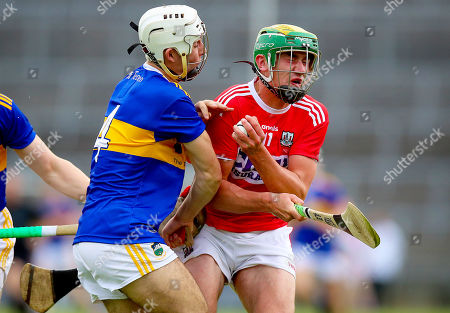 Cork vs Tipperary. Cork's Brian Roche with Craig Morgan of Tipperary