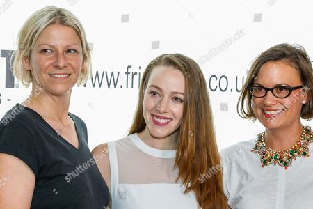 DP/ cinematographer Victoria Warren, actress April Billingsley (Resurrection, The Walking Dead) and Exec Producer Caroline Dieter attend the screening of The Dark Red at the Frightfest 2019