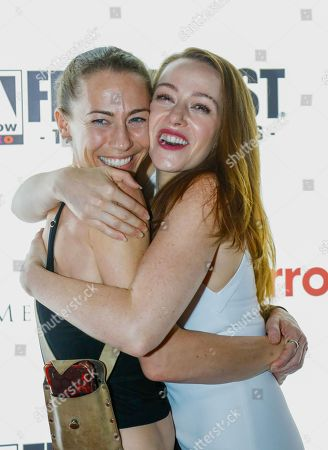 Stunt coordinator Elizabeth Davidovich and Actress April Billingsley (Resurrection, The Walking Dead) attend the screening of The Dark Red at the Frightfest 2019