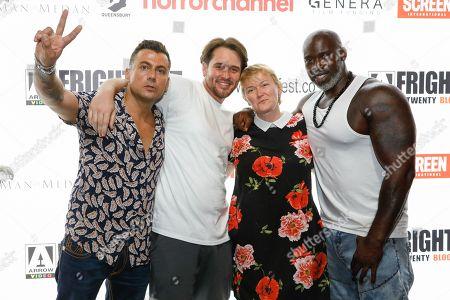 Paul Danan, Bradley Turner, Nina Romain and Director Fredi Nwaka (Nominated for Screen Genre Rising Star Award)