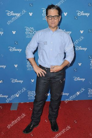 J.J. Abrams attends the Go Behind the Scenes with the Walt Disney Studios press line at the 2019 D23 Expo, in Anaheim, Calif