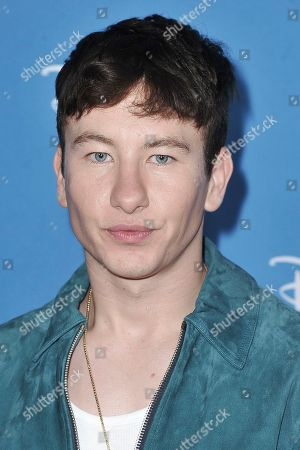 "Stock Image of Barry Keoghan attends ""Go Behind the Scenes with the Walt Disney Studios"" press line at the 2019 D23 Expo, in Anaheim, Calif"