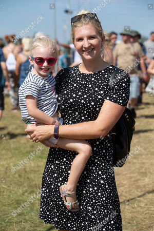 Olympic swimmer Rebecca Adlington with her daughter Summer.