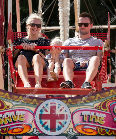 Olympic swimmer Rebecca Adlington with her daughter Summer on the Big Wheel.