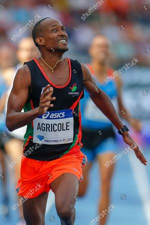 Marc-Andre Agricole, France, 800m Men Masters, during the Diamond League Meeting at Stade Charlety, Paris