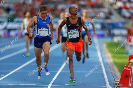 Igor Flandrin-Thoniel, France, Marc-Andre Agricole, France, 800m Men Masters, during the Diamond League Meeting at Stade Charlety, Paris