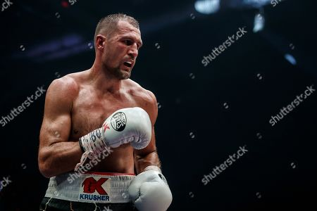Sergey Kovalev of Russia during his WBO light heavyweight title bout against Anthony Yarde of Britain in Chelyabinsk, Russia