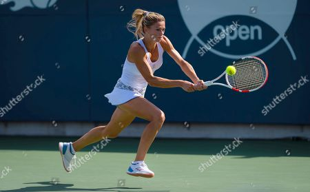 Camila Giorgi of Italy in action during the final