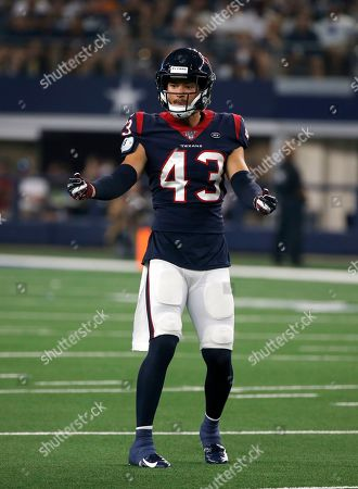 Houston Texans' Chris Johnson lines up against the Dallas Cowboys in the first half of a preseason NFL football game in Arlington, Texas