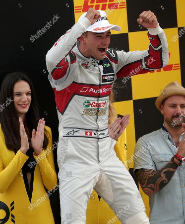 24.08.2019, Lausitzring, Klettwitz, DTM 2019, Lausitzring,23.08. - 25.08.2019 ,  Podium: winner  Nico Mueller (CHE#51), Audi Sport Team Abt Sportsline