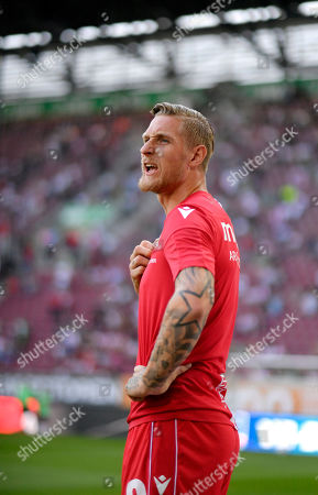 24.08.2019, Football 1. Bundesliga 2019/2020, 2. match day, FC Augsburg - 1.FC Union Berlin, in WWK-Arena Augsburg.   Sebastian Polter (Union Berlin)